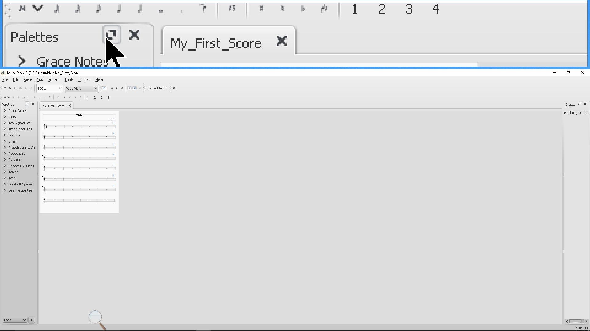 Interface size   MuseScore