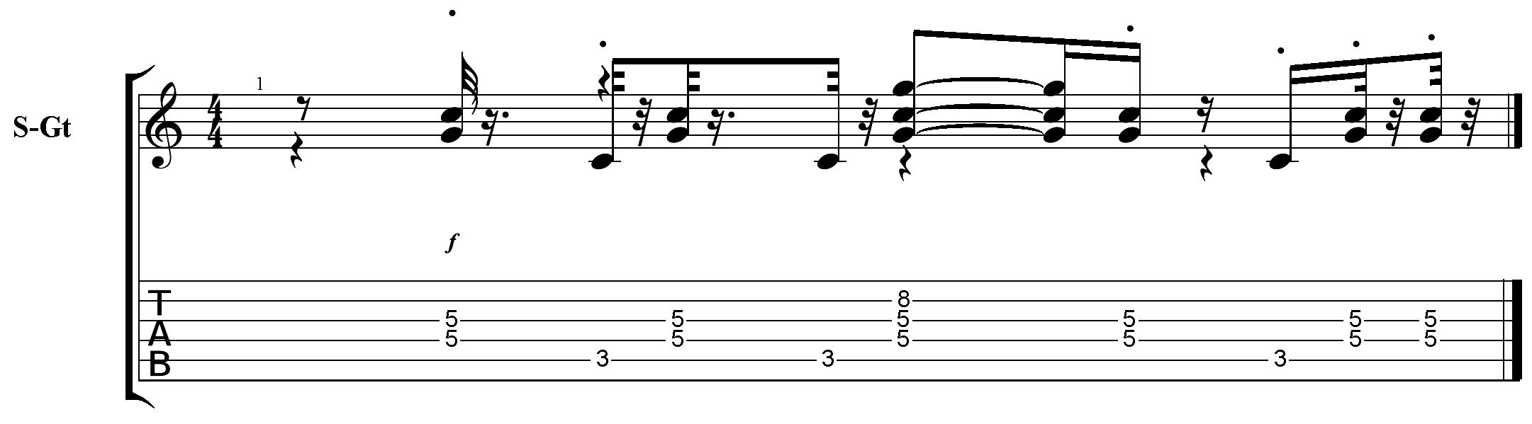 Guitar Pro] Incorrect beaming | MuseScore