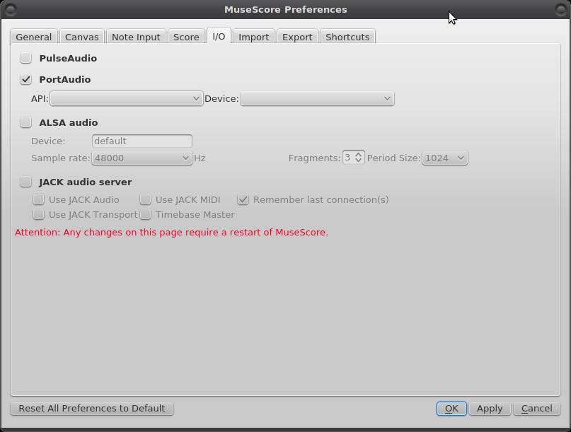 Preferences hang if check PortAudio but no API/Devices are