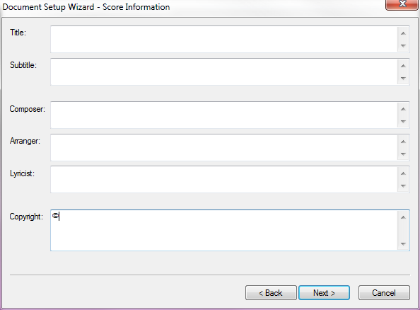 Add multi-line text area for copyright in New Score Wizard