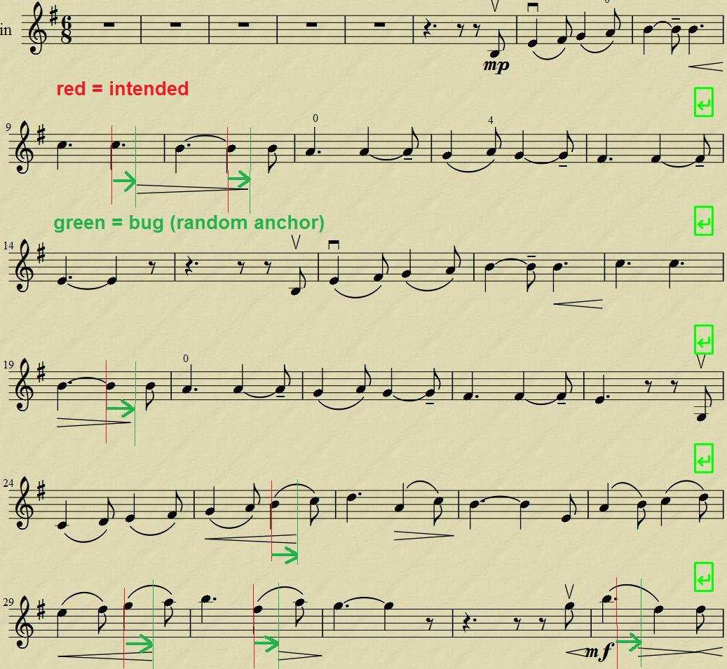 how to put crescendos in musescore