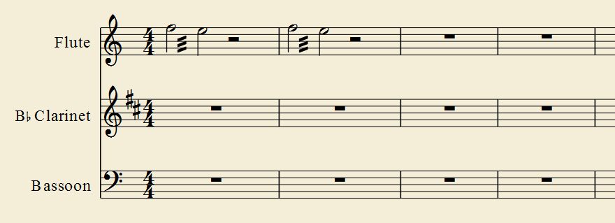 Copying and pasting two-note tremolos produces time