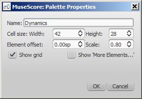 Palette properties