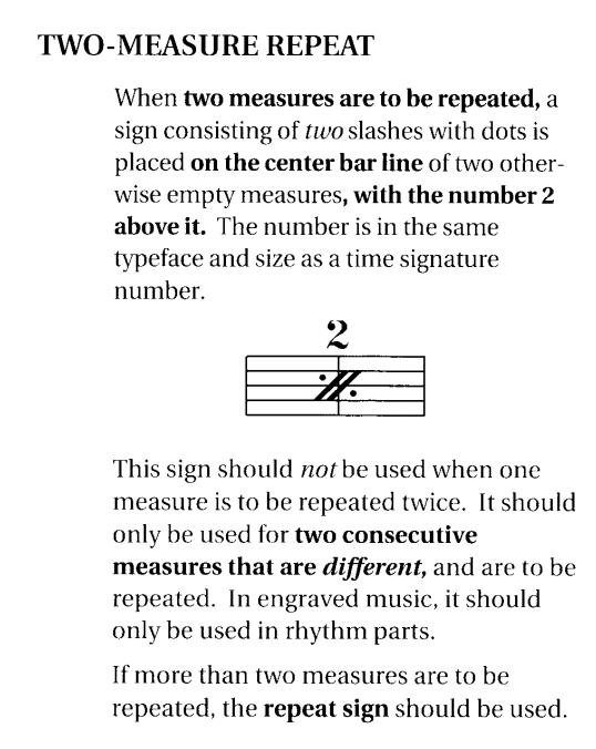 Two Measure Repeat Sign Musescore