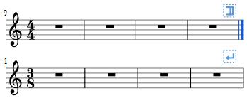Příklad použití zalomení hudebního oddílu
