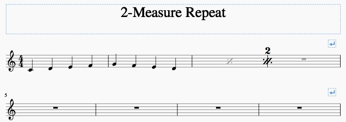 How To Create A 2 Measure Repeat Sign With Playback Musescore
