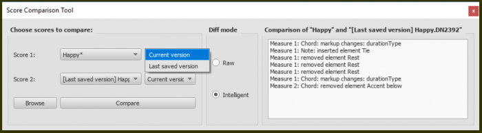 Score comparison tool