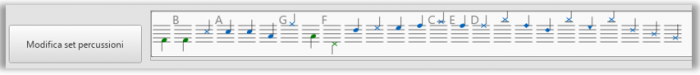 Tavolozza inserimento note percussioni