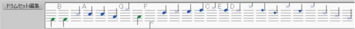 Drum input palette