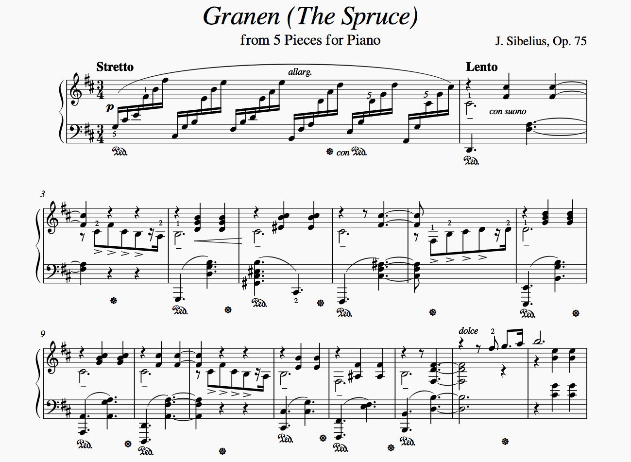 Complex piano sheet music in MuseScore