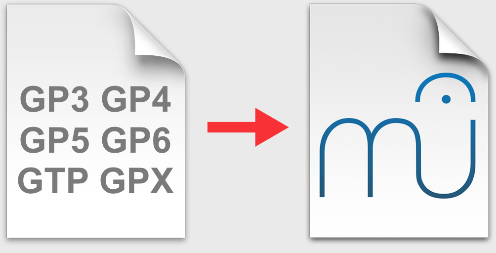 Guitar Pro and MuseScore file icons