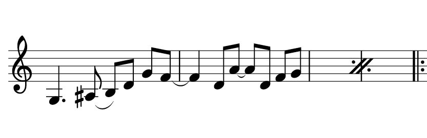 musescore two measure repeat