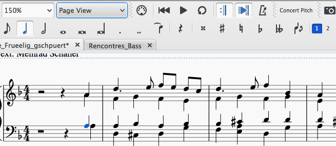 notes with stems in both directions | MuseScore