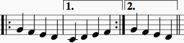 Sample first and second endings
