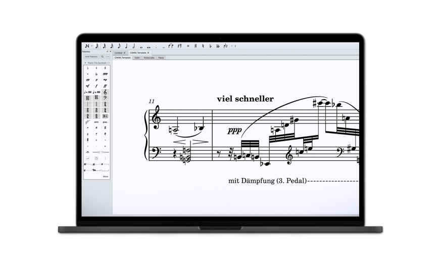 Laptop with Musescore Application
